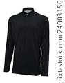 Long sleeve golf black sport shirt 24003150