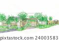 주택, 수목, 나무 24003583