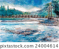Kamikochi的大正池草图 24004614