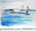 Sketch at Shimotsui Seto Ohashi Bridge Seto Inland Sea 24004615