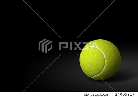 Tennis Ball on Black Background, 3D Rendering 24005817