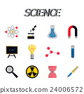 Science flat icon set 24006572