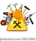 Vector Construction Tools with Sign 24012665