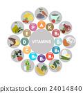Vitamins. Flat style icon 24014840