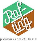 Color vintage rafting emblem 24016310