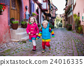 Children in historical city center in France 24016335