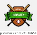Baseball team sport tournament color vector logo. 24016654
