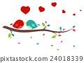 Beautiful birds in love 24018339