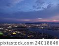 takamatsu city, nightscape, night view 24018846