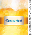 Oktoberfest sign. Beer mug. Vector illustration 24027788