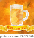 Oktoberfest sign. Beer mug. Vector illustration 24027866