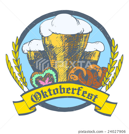 Oktoberfest vector illustration. Beer glasses 24027906