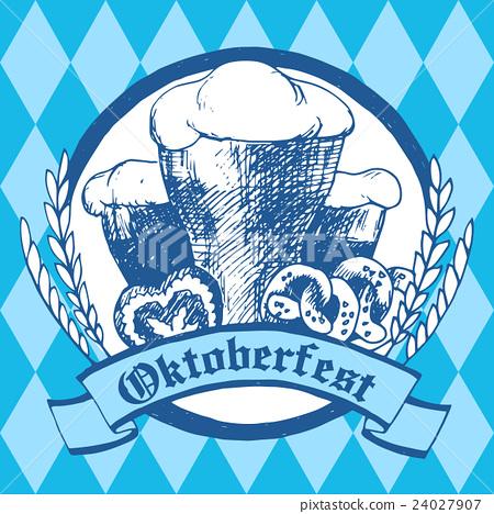 Oktoberfest vector illustration. Beer glasses 24027907