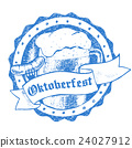 Oktoberfest vector illustration, beer mug and 24027912