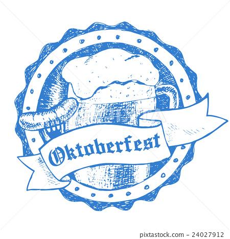 Oktoberfest vector illustration, beer mug and 24027912