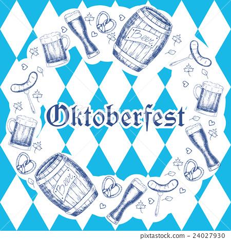 Oktoberfest vector illustration. Beer mugs 24027930