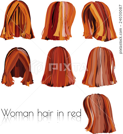woman hair in red 24030087