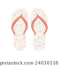 Flip flops, Slippers with floral pattern 24030336