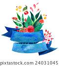 Beautiful Floral Greeting Card Bright illustration 24031045