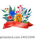 Beautiful Floral Greeting Card Bright illustration 24031049