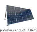 solar panel isolated on white,3d rendering 24033675