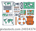 Travel and tourism. Flat style. World, earth map 24034374