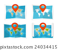 World map in a flat style. Earth, globe 24034415