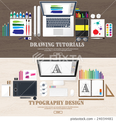 Graphic web design. Drawing and painting 24034481