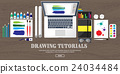 Graphic web design. Drawing and painting 24034484