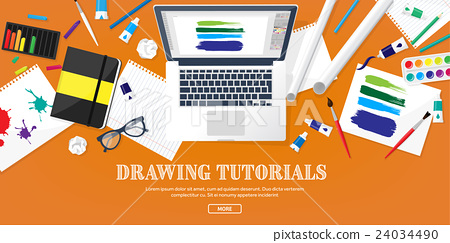 Graphic web design. Drawing and painting 24034490