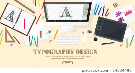 Graphic web design. Drawing and painting 24034496