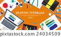 Graphic web design. Drawing and painting 24034509