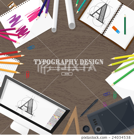 Graphic web design. Drawing and painting 24034538