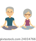 Yoga Senior Couple 24034766