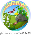 vector summer illustration  insect 2 24035485