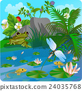 vector summer illustration  insect 2 24035768