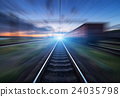 rail, railroad, railway 24035798