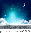 Beautiful magical night background with moon 24038068