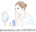 스킨 케어, 피부 관리, 여성 24038234