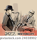 Two Jazz saxophonist playing in New York 24038902