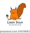 squirrel, animal, vector 24039683