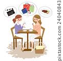 카페로 즐겁게 대화하는 여성들 24040843