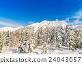 Japan Winter mountain with snow covered 24043657