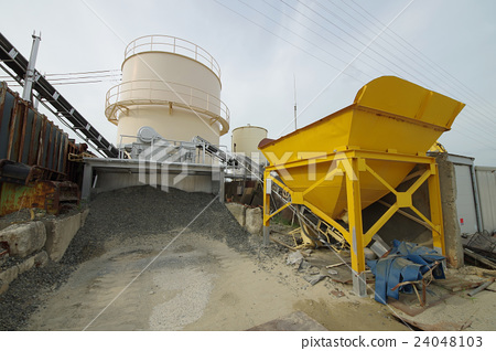 At cement material · gravel place 24048103