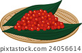 salted salmon roe, white background, vector 24056614
