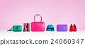 多彩時尚配飾。包包,鞋子,帽子。 24060347