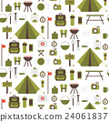 Seamless pattern of flat colorful vector camping 24061837