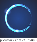 Glow effect eclipse circle vector. 24065843