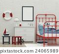 kids sleeping room interior 3d rendering image 24065989