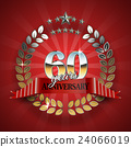 Anniversary 60th ring with red ribbon. 24066019